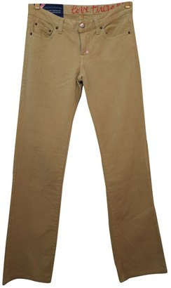 Fiorucci Camel Cotton Jeans for Women