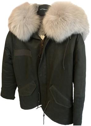 Ducie Green Cotton Coat for Women