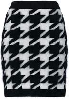 Balmain knitted Houndstooth skirt