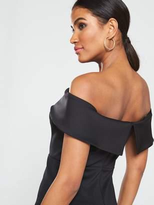 Very Bardot Bodycon Mini Dress - Black