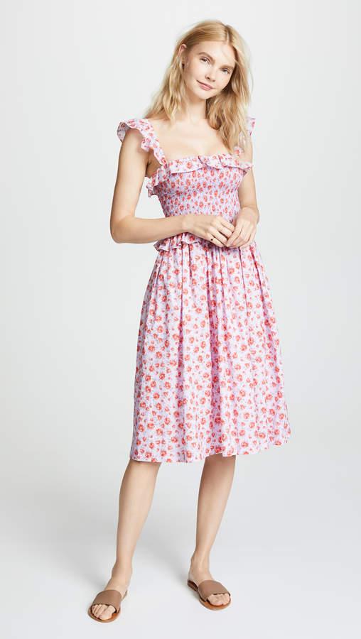 Amanda Uprichard Smocked Midi Dress