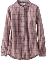 Uniqlo Women Idlf Cotton Lawn Check Pleated Long Sleeve Shirt