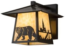 Brannan Lone Bear Outdoor Wall Lantern Loon Peak