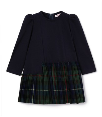 Il Gufo Asymmetric Tartan Dress (3-10 Years)