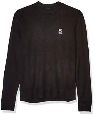 Armani Exchange A|X Men's Crew Neck Pullover with Small Abstract Logo