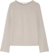 Helmut Lang Ribbed Wool And Cashmere-blend Sweater - Stone