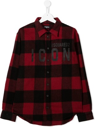 DSQUARED2 TEEN Icon plaid shirt
