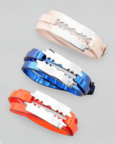 McQ by Alexander McQueen Razor-Blade Wrap Bracelet, Neon Orange