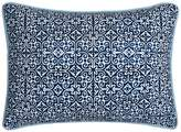 Carson 200 Thread Count Medallion Oblong Shibori Decor Pillow - Blue - 12 x 18