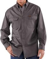 Carhartt Heavyweight Sandstone Twill Shirt (For Big Men)