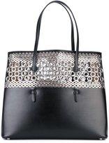 Alaia eyelet studded tote bag