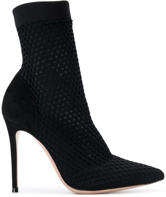Gianvito Rossi Sock Style Pointed Booties