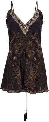 Camilla Cobra King V-Neck Shoestring Playsuit