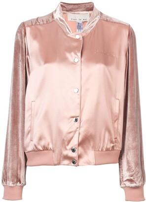 Fleur Du Mal satin-velvet bomber jacket
