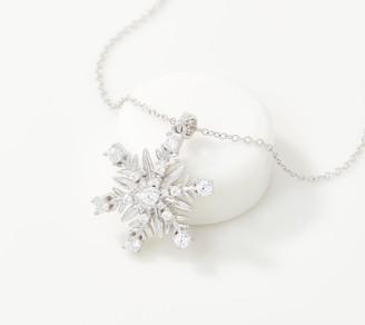 Diamonique Disney's Frozen 2 Large Necklace Sterling Silver