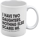 Old Glory Father's Day - Nothing Scares Me White All Over Coffee Mug