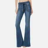 Paige Chandler Belted Flare Jean in Weston