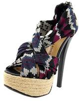 Chinese Laundry Turn It Up Women Open Toe Canvas Platform Heel.
