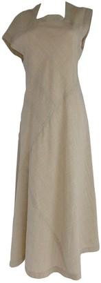 Comme des Garcons Ecru Wool Dresses