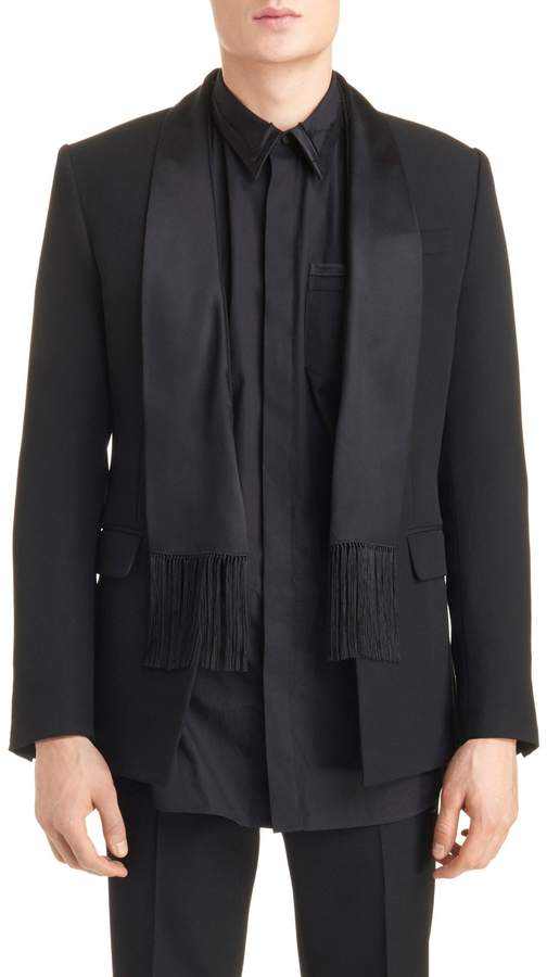 Givenchy Scarf Lapel Evening Jacket