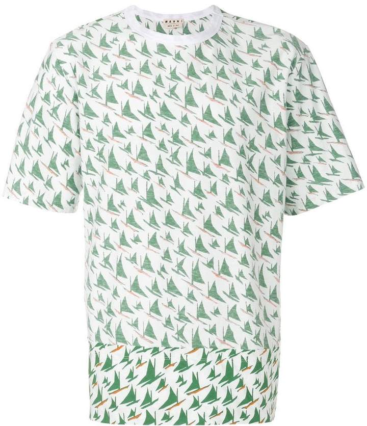 Marni windsurf print T-shirt