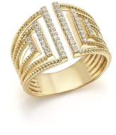 Bloomingdale's Diamond Multi Row Open Ring in 14K Yellow Gold, .25 ct. t.w. - 100% Exclusive