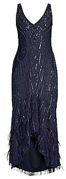 Parker Black Women's Embellished Sequin Sydney Midi Dress - Size 0