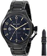 Trafalgar Ballast Men's BL-3125-06 Dress Analog Display Swiss Quartz Black Stainless Steel Watch