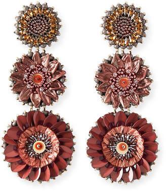 Mignonne Gavigan Molly Triple-Drop Circular Earrings