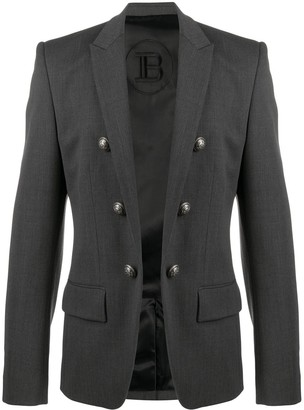 Balmain Double-Breasted Open Blazer