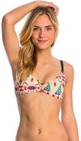 Hurley Swimwear Jagged Tie Dye Sport Bra Bikini Top 8145088