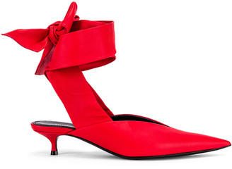 Balenciaga Dance Knife Wrap Around Kitten Heels in Red | FWRD