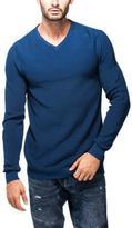 Point Zero Men's Long-Sleeve Rolled V-Neck Sweater