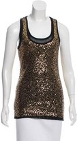 Robert Rodriguez Sequined Knit Tank