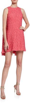 Brandon Maxwell Textured Cape Back Mini Dress