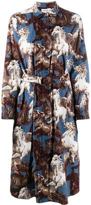 Kenzo Horse-Print Shirt Dress