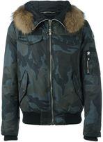 Philipp Plein 'Brahms' bomber jacket - men - Nylon/Polyester/Racoon Fur - L