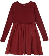 Ella Moss Youth Girl's Macie Sweater Dress - Burgandy