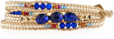 Nakamol Beaded Wrap Bracelet, Blue