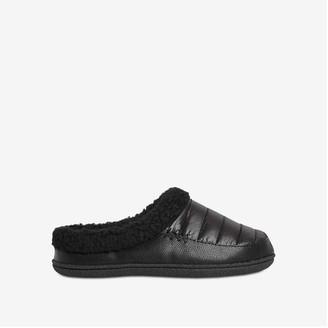 Joe Fresh Men's Slippers, Black (Size M)