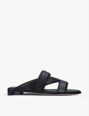 Bottega Veneta The Band cross-over leather sandals