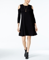 Style&Co. Style & Co Style & Co Petite Cold-Shoulder Dress, Created for Macy's