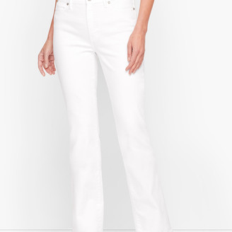 Talbots High-Waist Barely Boot Jeans - White