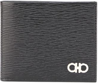 Salvatore Ferragamo Signature Gancino Logo Textured Leather Wallet