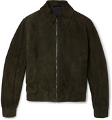 Gieves & Hawkes - Suede Bomber Jacket