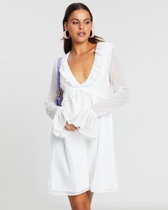 NA-KD Frill Detail LS Dress