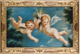 Bianchi Arte Oil on Canvas Cherubs Painting