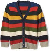 Gap Crazy stripe V-neck cardigan