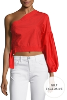 Lucca Couture Asymmetrical Side Tied Blouse
