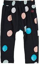 Munster Oversized-Dot-Print Jersey Pants-BLACK